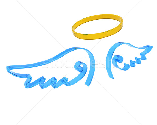 representation of angel wings and halo Stock photo © kjpargeter