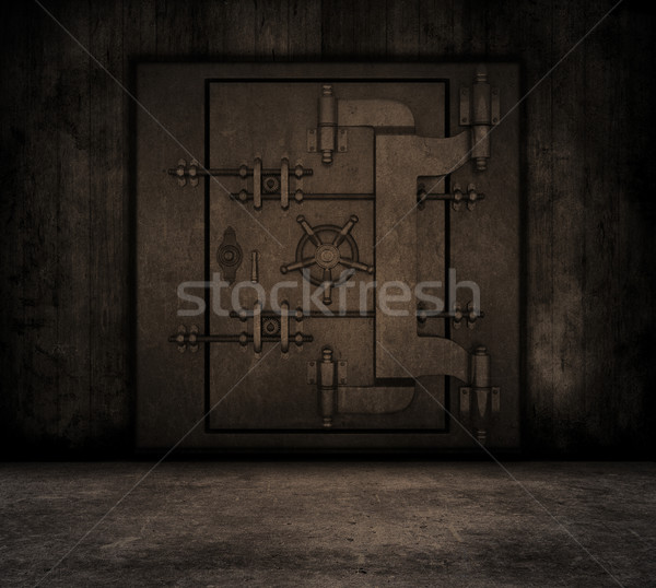 Grunge interior with bank vault Stock photo © kjpargeter