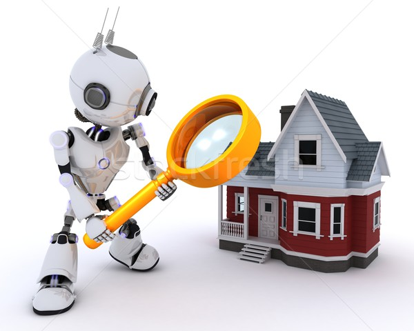 Robot searching for a house Stock photo © kjpargeter