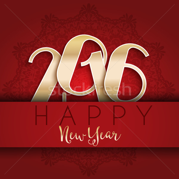 Feliz año nuevo diseno tipografía nieve vacaciones celebración Foto stock © kjpargeter