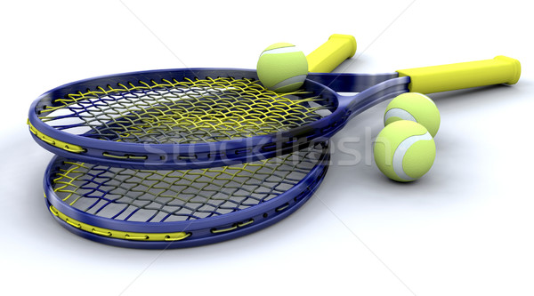 3d Tennis equipment Stock photo © kjpargeter
