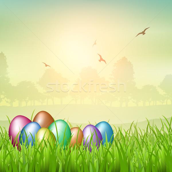 Easter egg backgroubnd Stock photo © kjpargeter