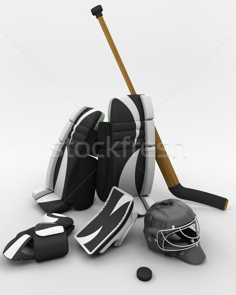 ice hockey goalie equipment Stock photo © kjpargeter