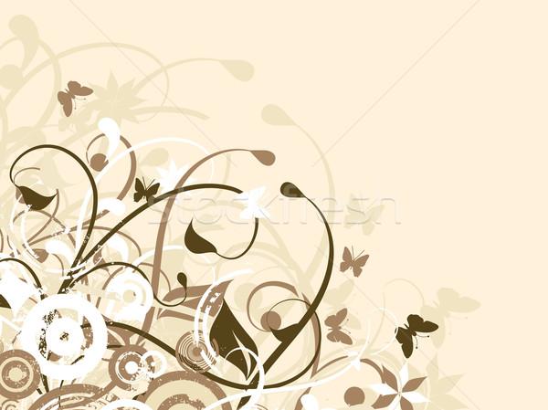 Caótico natureza flor festa homem sensual Foto stock © kjpargeter