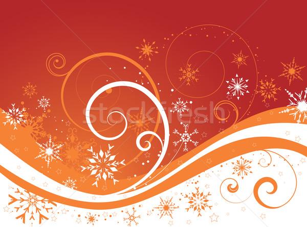 Сток-фото: снежинка · декоративный · зима · звезды · снега