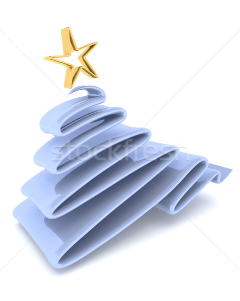 ストックフォト: スケッチ · クリスマスツリー · 3dのレンダリング · 冬 · クリスマス · 休日