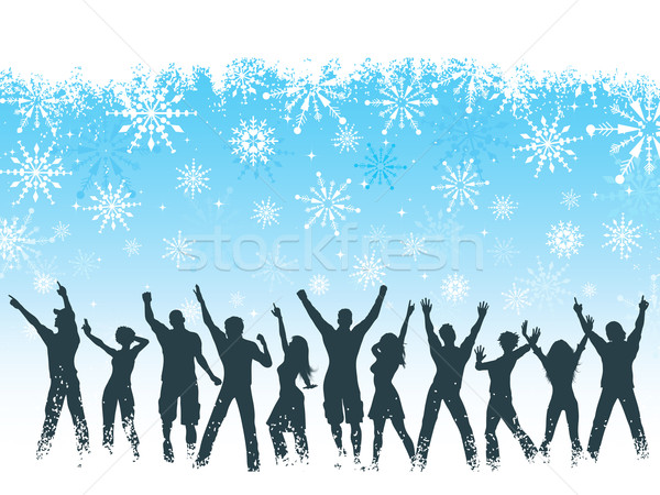 Christmas party background Stock photo © kjpargeter