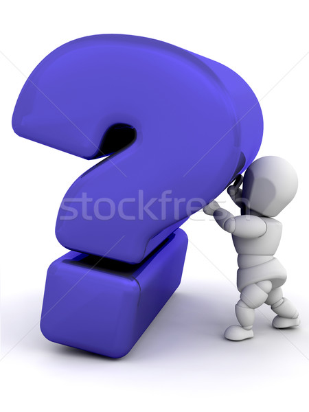 Persoon vraagteken 3d render iemand Stockfoto © kjpargeter