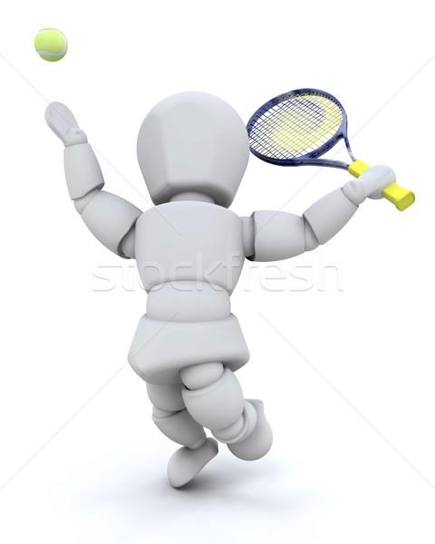 Tennis player Stock photo © kjpargeter