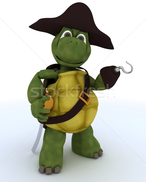 Tortoise dressed as a pirate Stock photo © kjpargeter