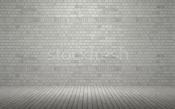 Exposé mur de briques rendu 3d mur peinture entrepôt Photo stock © kjpargeter
