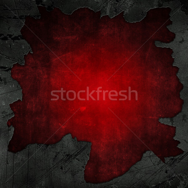 Cracked concrete and red grunge background Stock photo © kjpargeter