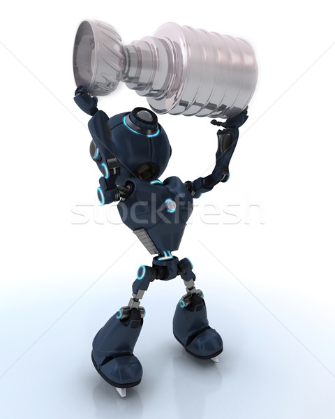 Android ice hockey champion Stock photo © kjpargeter