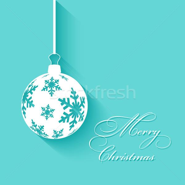 クリスマス 安物の宝石 絞首刑 雪 背景 休日 ストックフォト © kjpargeter
