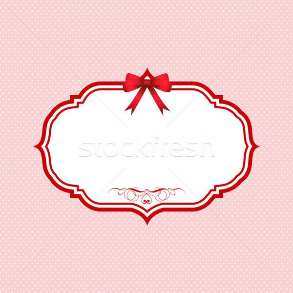 バレンタインデー かわいい 背景 ステッカー 招待 ストックフォト © kjpargeter