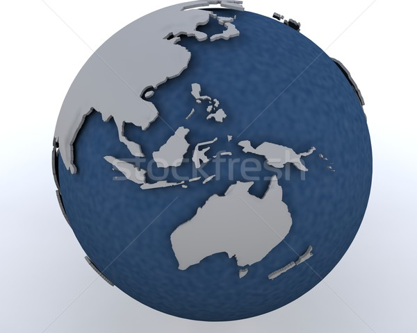globe showing asia pacific region Stock photo © kjpargeter
