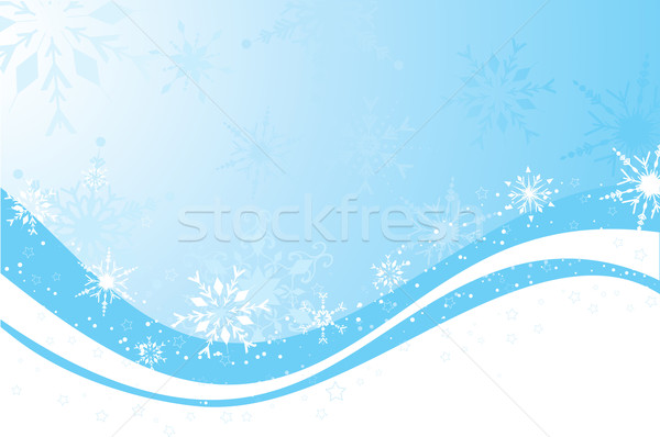 Floco de neve abstrato neve natal frio celebrar Foto stock © kjpargeter