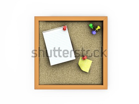 Cork board Stock photo © kjpargeter