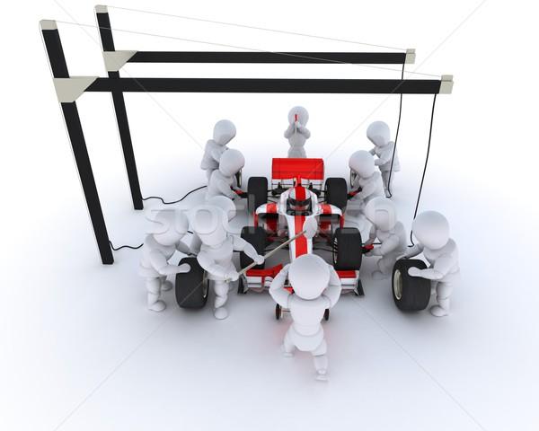 Race auto stoppen 3d render auto man sport Stockfoto © kjpargeter