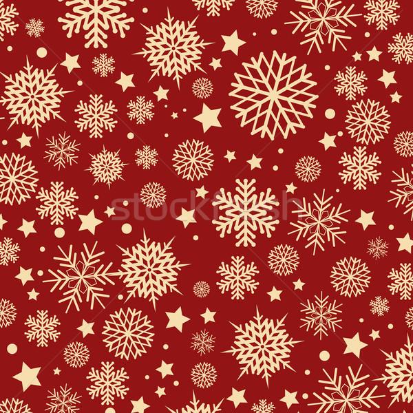 Hópehely végtelenített csempe karácsony terv hó Stock fotó © kjpargeter