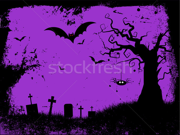 Гранж Хэллоуин стиль дерево крест Сток-фото © kjpargeter