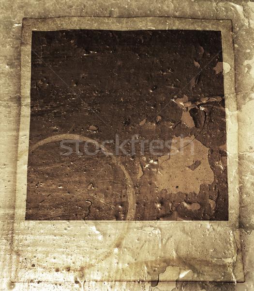 Grunge Polaroid estilo película fondo marco Foto stock © kjpargeter