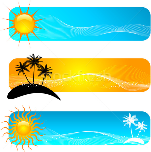 Tropical banners Stock photo © kjpargeter