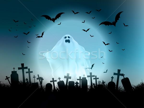 Halloween ghost landscape  Stock photo © kjpargeter