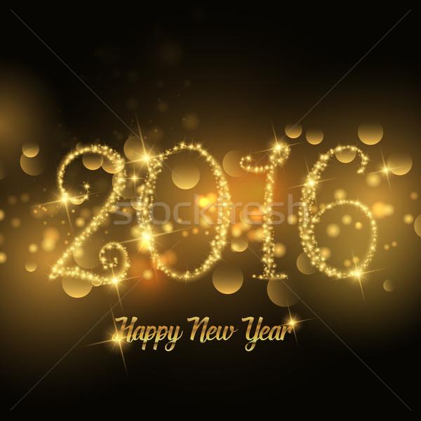 Sparkle Happy New Year design  Stock photo © kjpargeter