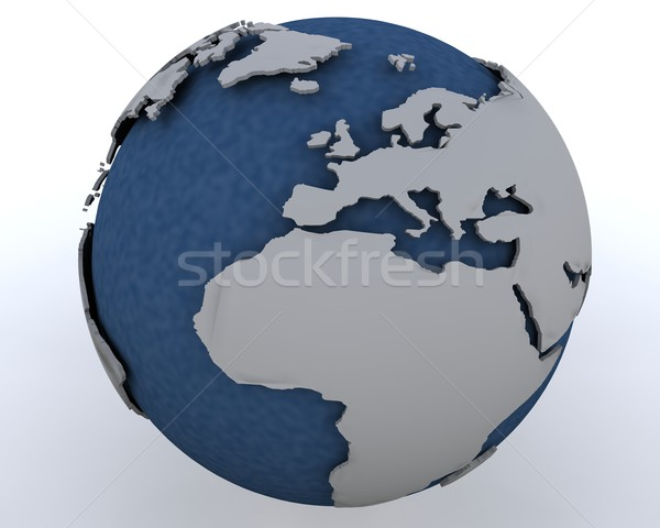 Globe showing north africa and europe Stock photo © kjpargeter
