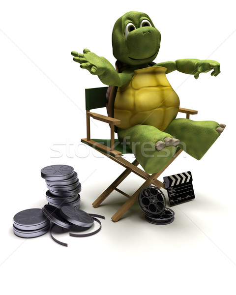 tortoise in a directors chair Stock photo © kjpargeter