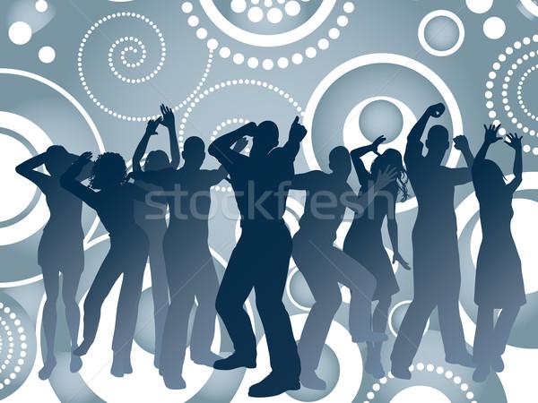 ретро вечеринка девушки человека женщины Dance Сток-фото © kjpargeter