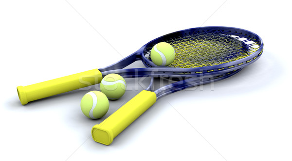 Tennis racquets and balls Stock photo © kjpargeter