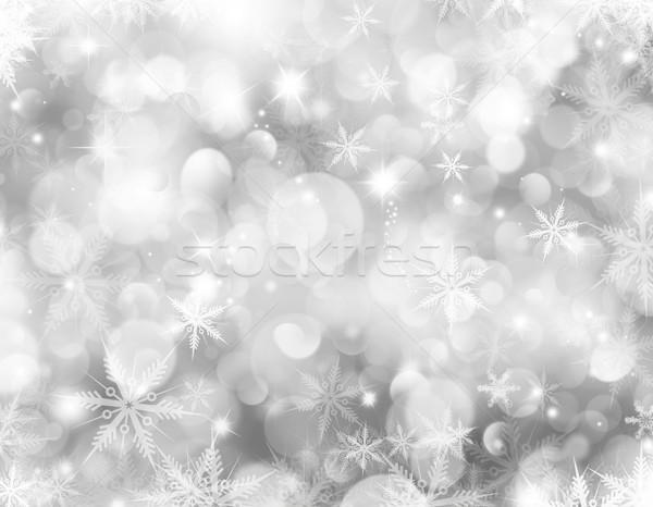 Christmas snowflakes Stock photo © kjpargeter