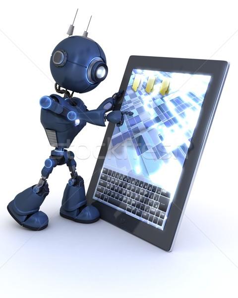 Android mobiele tablet 3d render Stockfoto © kjpargeter