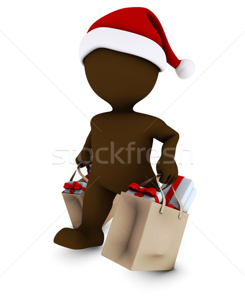 Morph Man with shopping bags Stock photo © kjpargeter