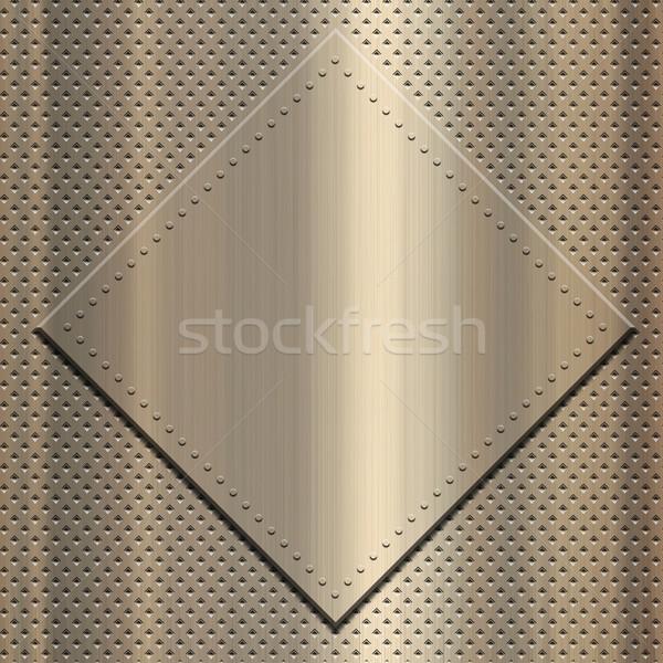 Złota metaliczny metal tablicy śruby Zdjęcia stock © kjpargeter