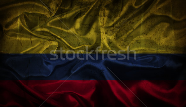 Grunge Colombian flag background Stock photo © kjpargeter