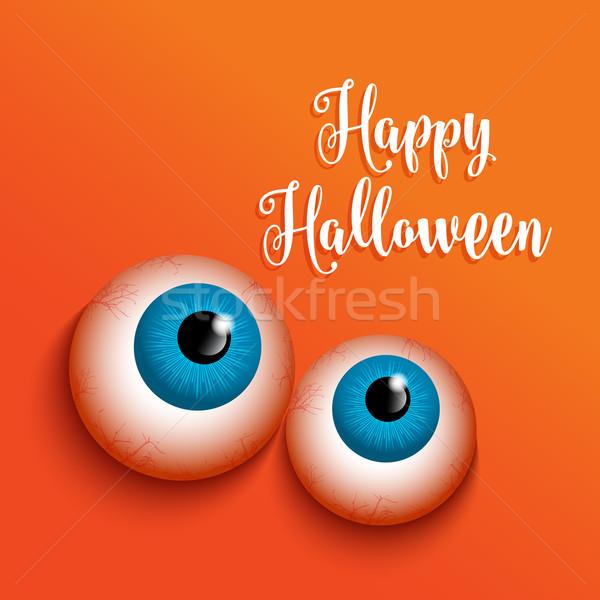 幸せ ハロウィン 奇妙な 目 デザイン お祝い ストックフォト © kjpargeter