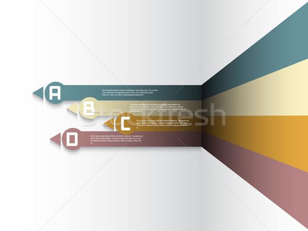 Modern infografika lehetőségek elrendezés terv háttér Stock fotó © kjpargeter