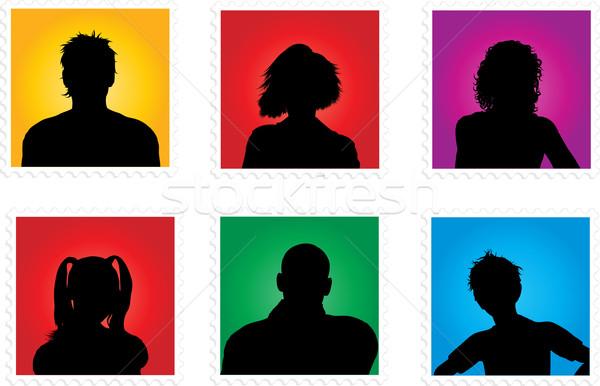Emberek gyűjtemény különböző lány férfi fiú Stock fotó © kjpargeter