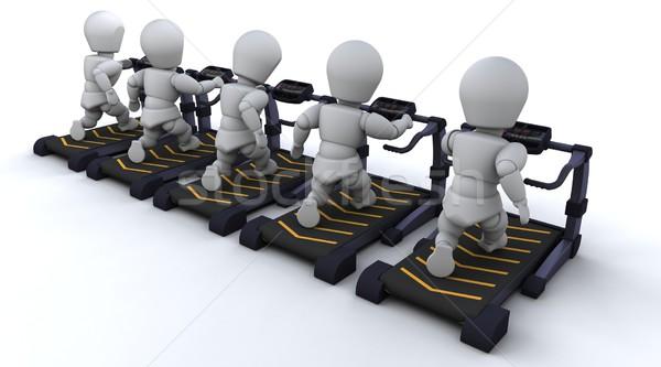 Kierat 3d mężczyzn człowiek ciało fitness Zdjęcia stock © kjpargeter