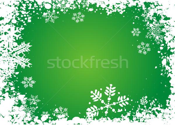 Nem leírás hó tél ünneplés hópehely Stock fotó © kjpargeter
