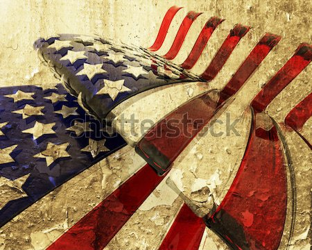 Grunge stele stil American Flag abstract Imagine de stoc © kjpargeter