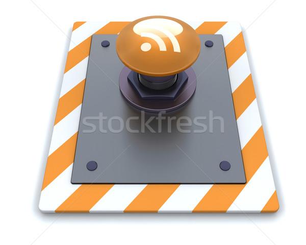 Rss кнопки 3d визуализации интернет веб Сток-фото © kjpargeter