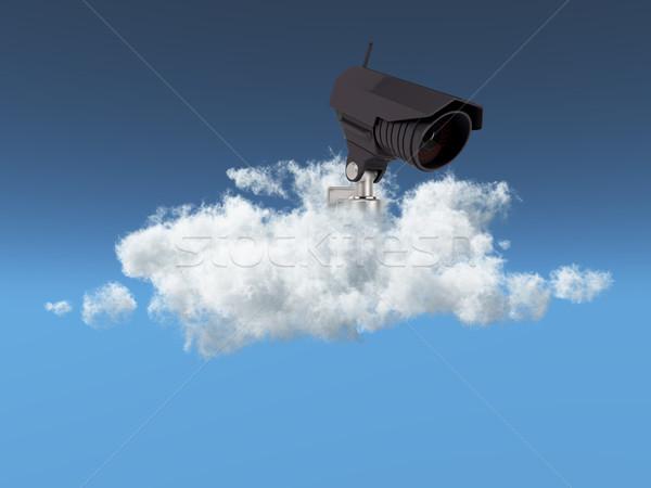 облаке безопасности кабельное телевидение камеры небе синий Сток-фото © kjpargeter