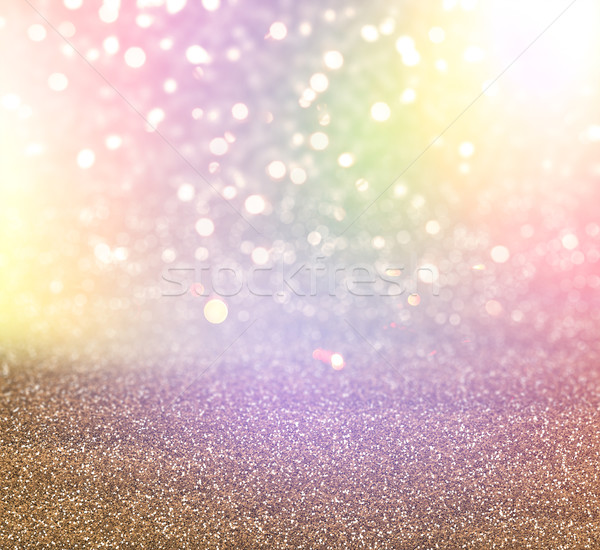 Christmas glitter and bokeh lights background Stock photo © kjpargeter