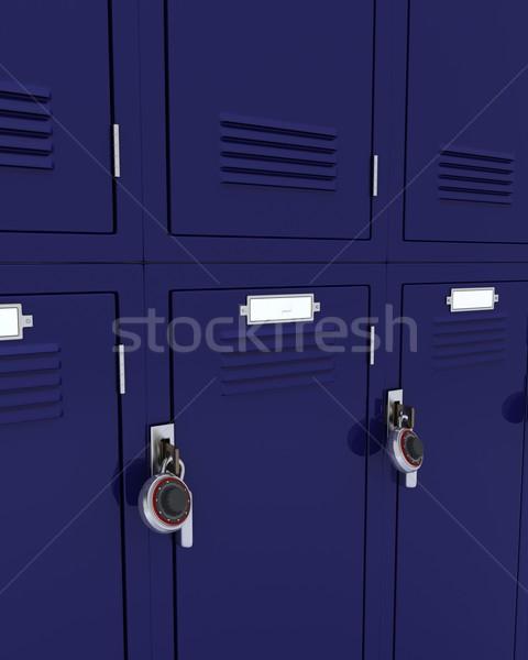 Stock photo: School gym locker
