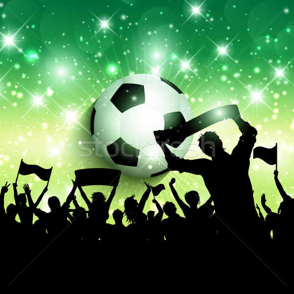 Football or soccer crowd background 1305 Stock photo © kjpargeter