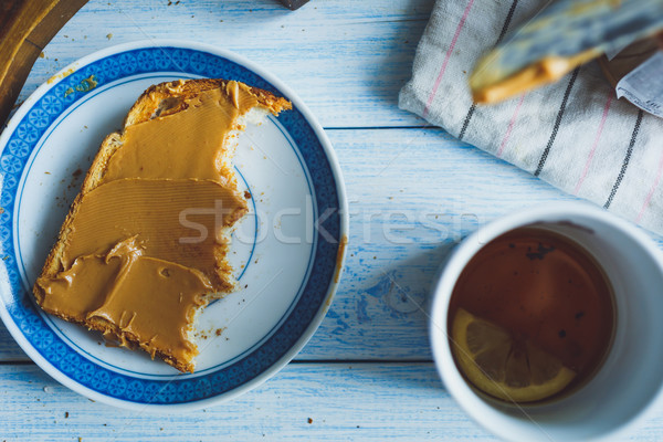 Peanut butter sandwiches or toasts Stock photo © kkolosov